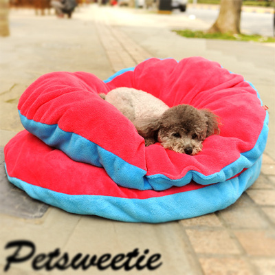 Puppy dog ​​kennel mats exclusive red and blue quilt mattress Teddy fall and winter protection navel pet supplies