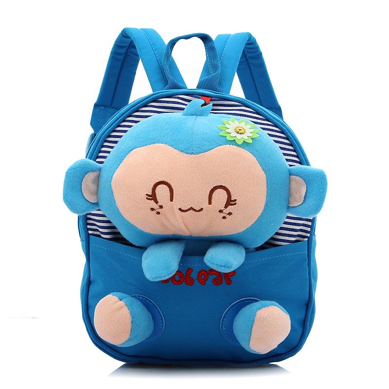 【天天特价】韩版男女儿童猴子双肩包 卡通可爱幼儿零食小背包图片