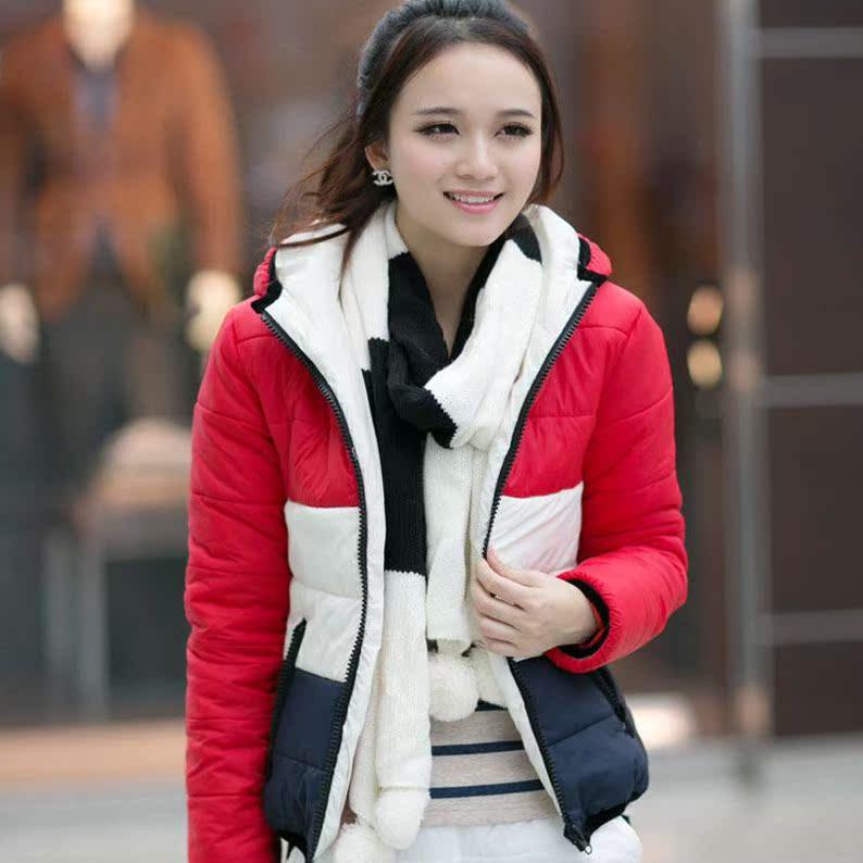 森马卡玛秋冬装新款女装韩版女士潮流前线短款真维斯棉衣外套美邦