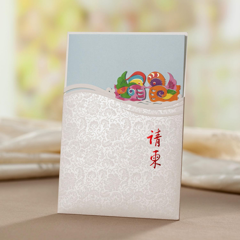 CW3078唯思美请帖创意2013婚礼结婚用品定制婚礼请柬喜帖欧式白色