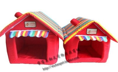 Candy-colored folding dog house cat litter kennel dog house dog house Teddy pet nest special offer free shipping