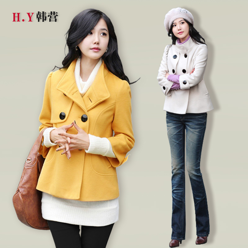 HY-Korean battalion 2013 spring new Korean women short slim coat woolen cloth coat Barret coat