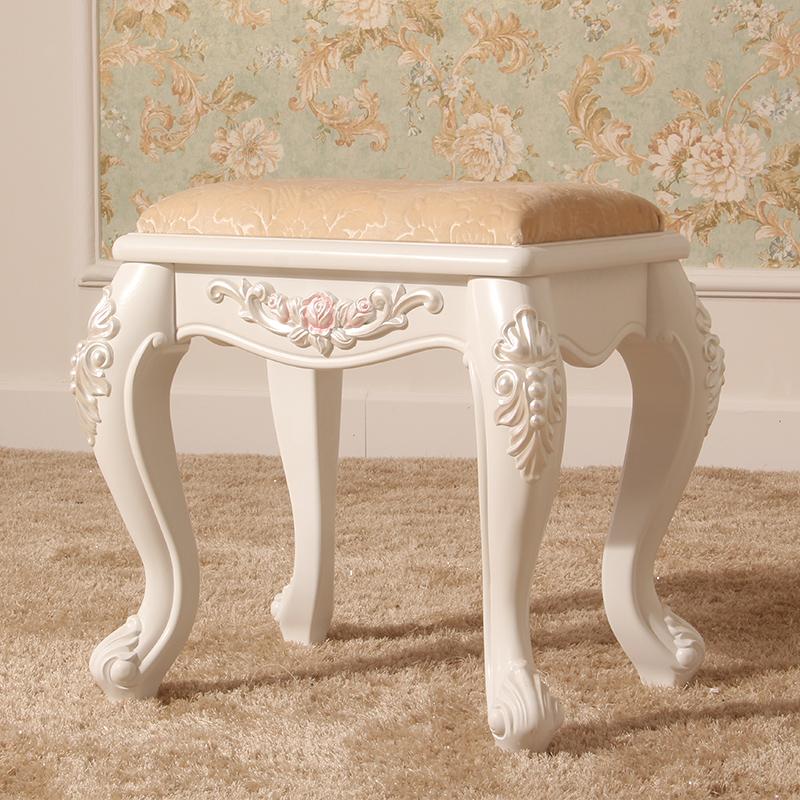 简雅佳 欧式田园时尚玫瑰化妆凳 梳妆凳子/坐凳/简约图片