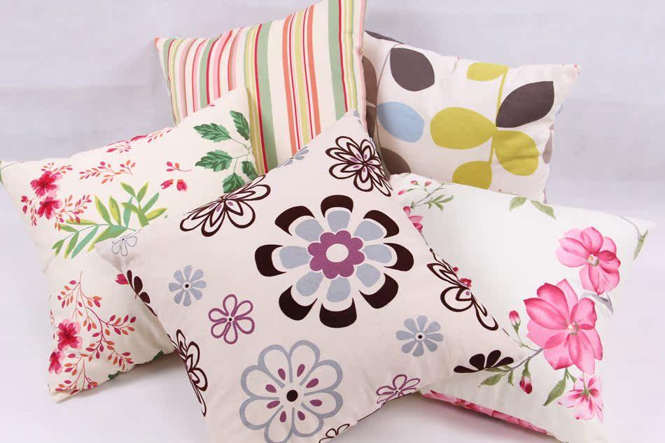 小清新抱枕靠垫沙发靠背垫创意办公室靠枕 可拆洗床头靠枕含芯