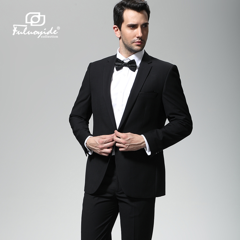 弗洛伊德 男士西服套装 商务休闲修身礼服 新郎结婚伴郎西装套装