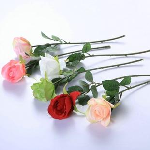 假花玫瑰花干花花瓶家居客厅摆件茶几装饰简约情人节礼物热卖绢花