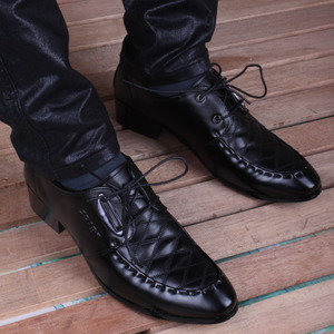 尖头皮鞋 男 韩版英伦商务休闲发型师增高鞋男士时尚潮男皮鞋男鞋