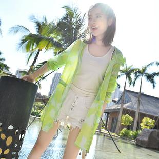 2017夏季新款防晒衣女中长款韩版超薄迷彩服防紫外线沙滩衫外套潮