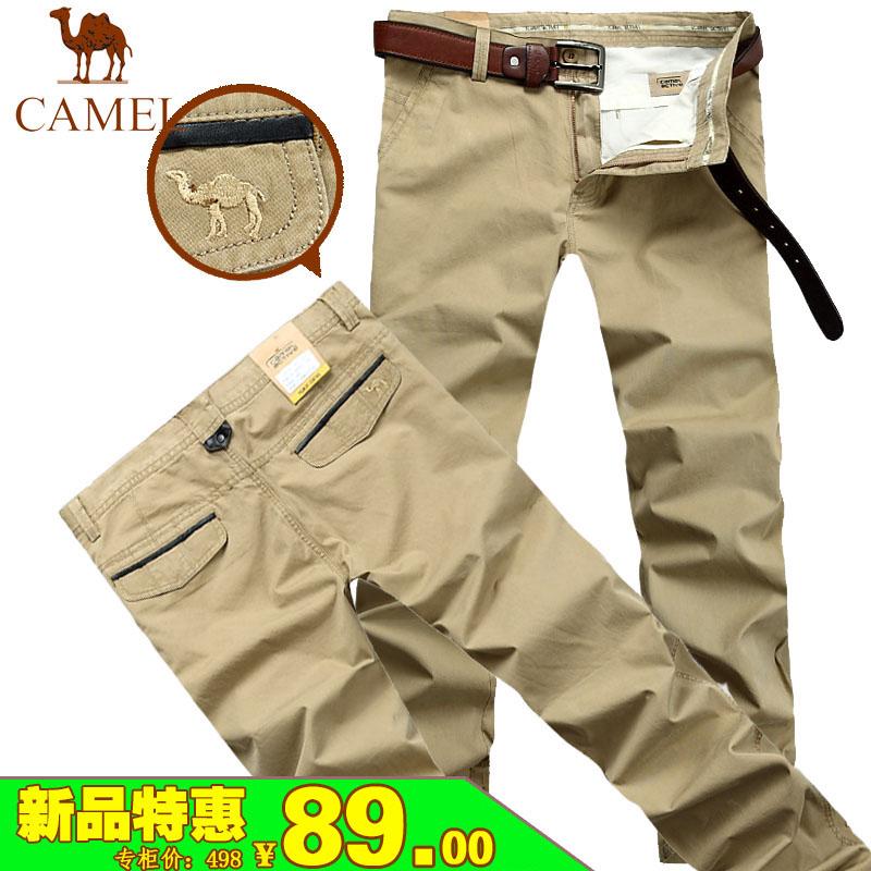 2013春夏新款男士骆驼休闲裤 纯棉修身时尚休闲长裤 Camel男裤子
