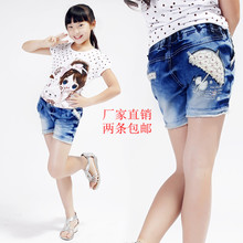 Girls denim shorts shorts shorts Korean summer 2013 new Korean children's denim shorts female