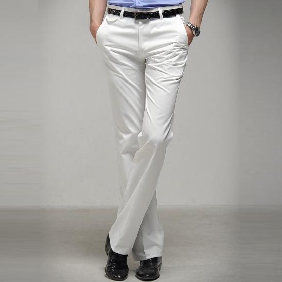 型男e馆 春秋男商务西裤韩版修身西装裤白色西服裤 男裤 pants 02