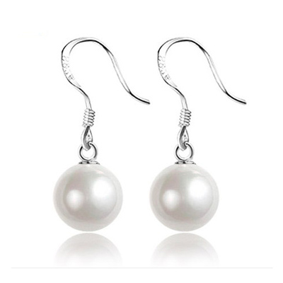 925 sterling silver earrings Ms. natural pearl earrings silver earrings jewelry earrings long paragraph shipping