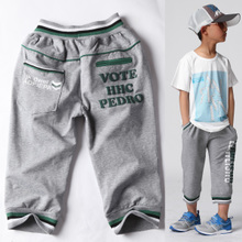 Children's clothing for men and boy shorts summer 2013 new boys pant Zi Xia thin models pants cotton children