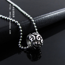 Han edition casting xiangyun pattern Lucky bead transport bead necklace pendant beads male female couples titanium steel