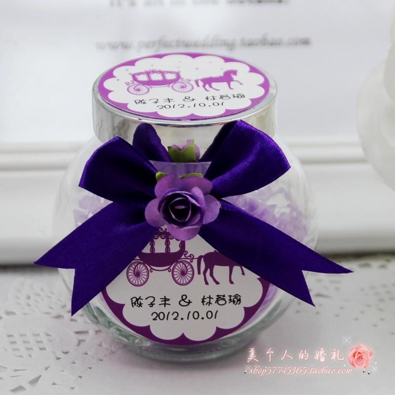 创意个性欧式玻璃瓶喜糖盒 高档喜糖盒子CX95