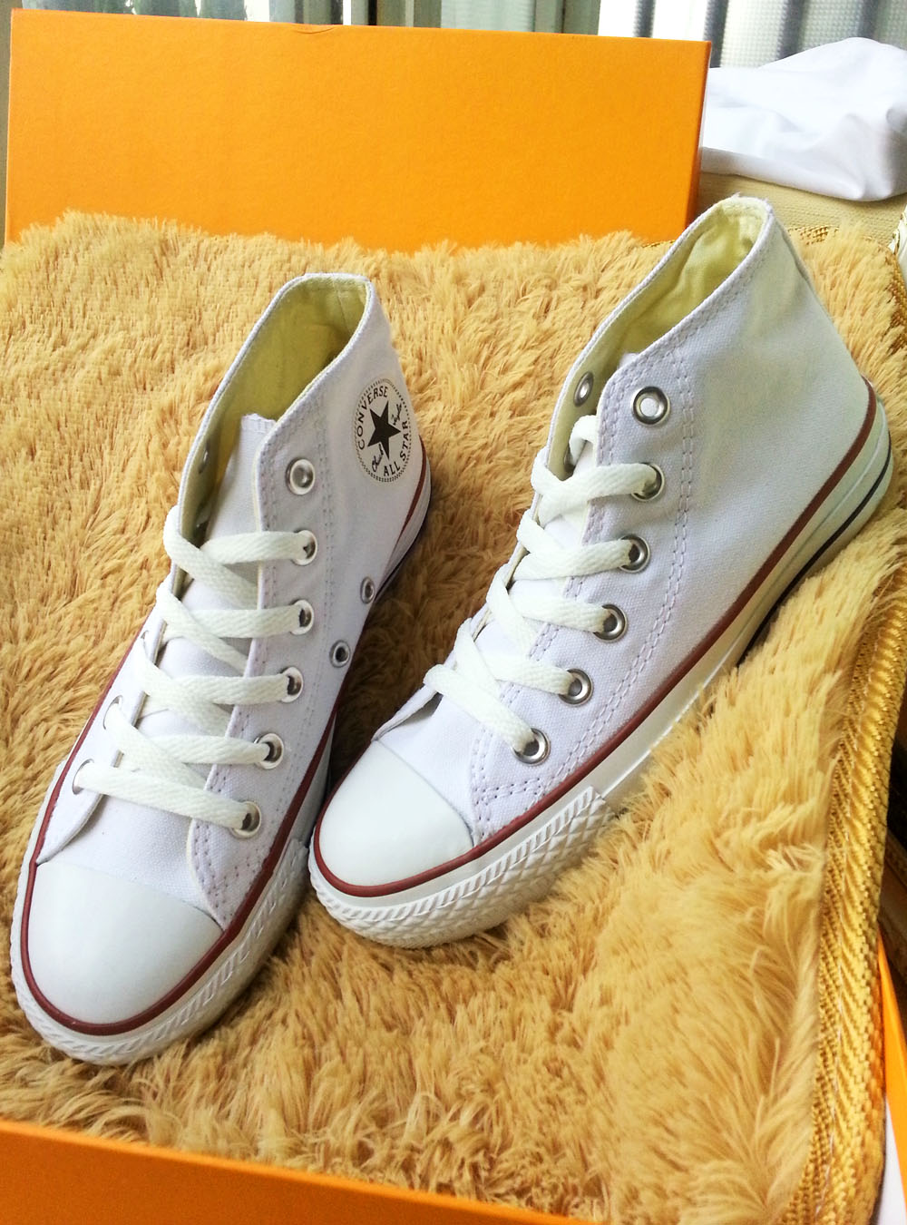 新款 专柜正品匡威 帆布鞋经典款中帮白色 休闲鞋 运动鞋情侣鞋图片