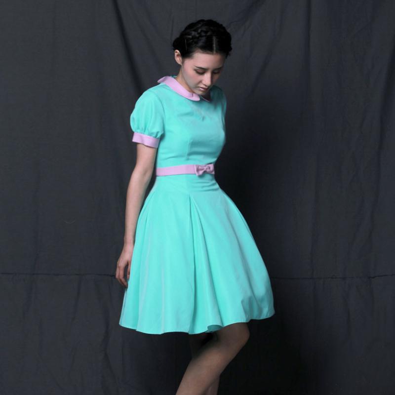 Принцесса T.wang ретро конфеты цветные пушистые хит Кукла платье Зеленая мята