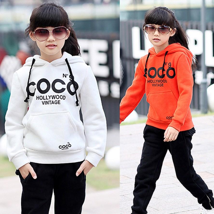 女孩卫衣加厚2013女童童装秋装新款抓绒女大童韩版外套160白色