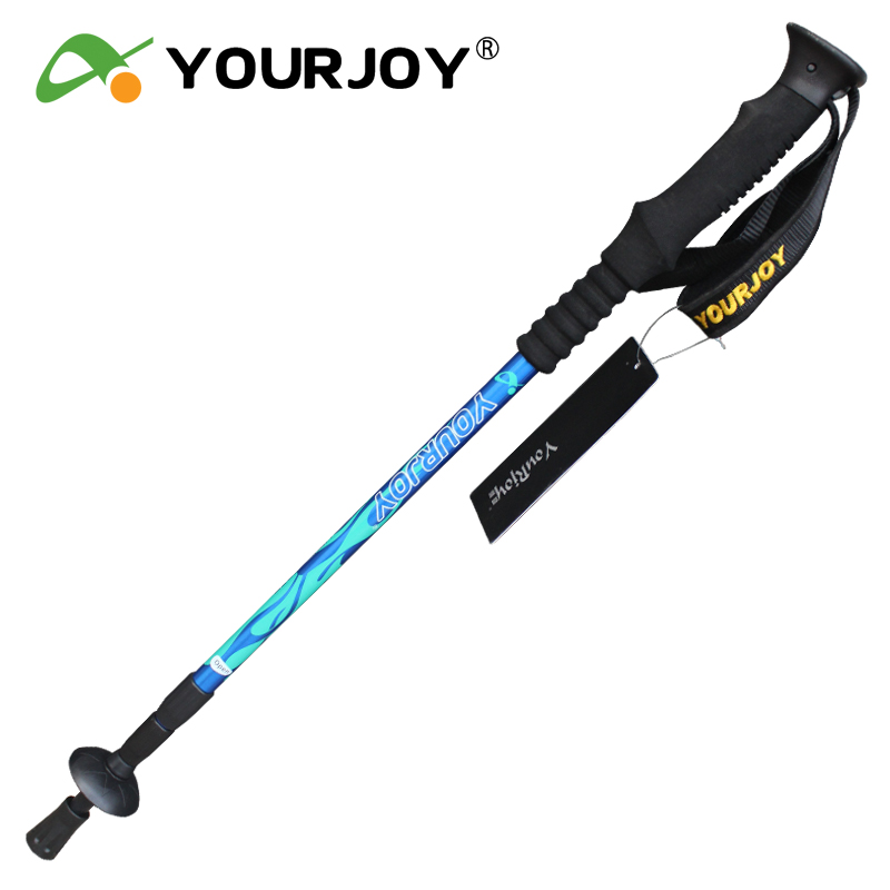 Yau King outdoor trekking poles genuine ultra light aluminum trekking poles with parallel Shanks 7,075 foot climbing stick