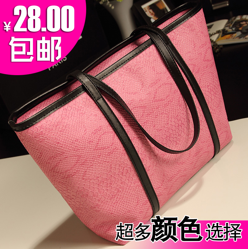 2013 summer new crocodile pattern bag retro handbag in Korean wave of European and American fashion shoulder bag handbag bag