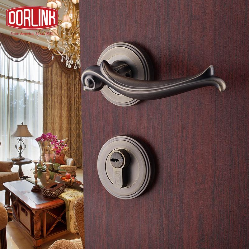 Замок дверной механический Dorlink Dura Европы стандартные двери замка Античная латунь декоративная барокко тела десять лет гарантия