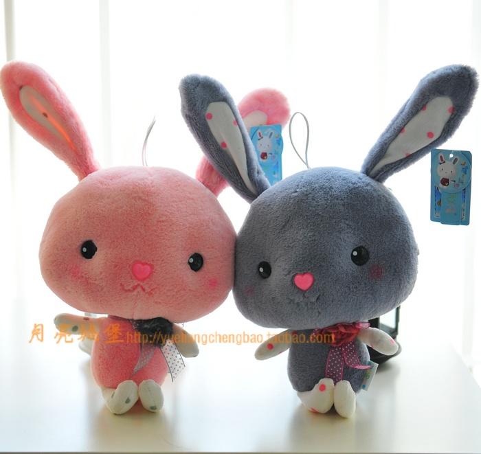 正版蓝白玩偶大头兔长耳朵兔子公仔毛绒玩具布娃娃大号生日礼物
