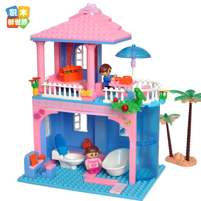 乐高式正品邦宝积木儿童花瓣浴城堡玩具牌子8361模型女孩馨香微钻积木公主好图片
