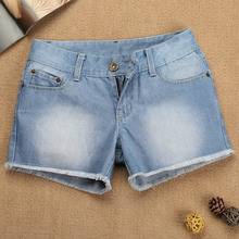 2013 new thin burrs denim shorts shorts female summer Korean wave of retro aspect MM code casual women
