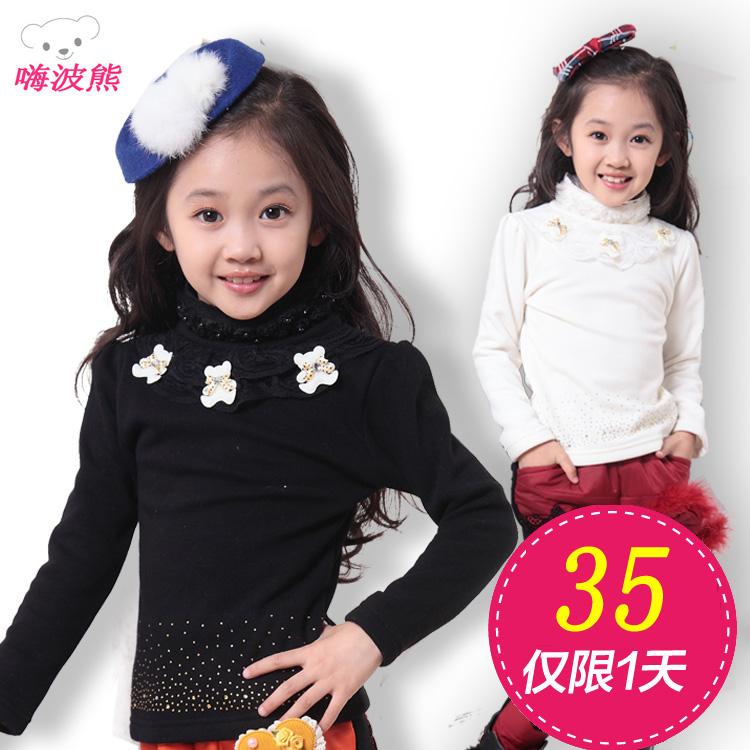 Футболка детская 2013 Новые Осень Зима девочек детей несут базовый рубашка с длинным рукавом t рубашка 3 пакет почта
