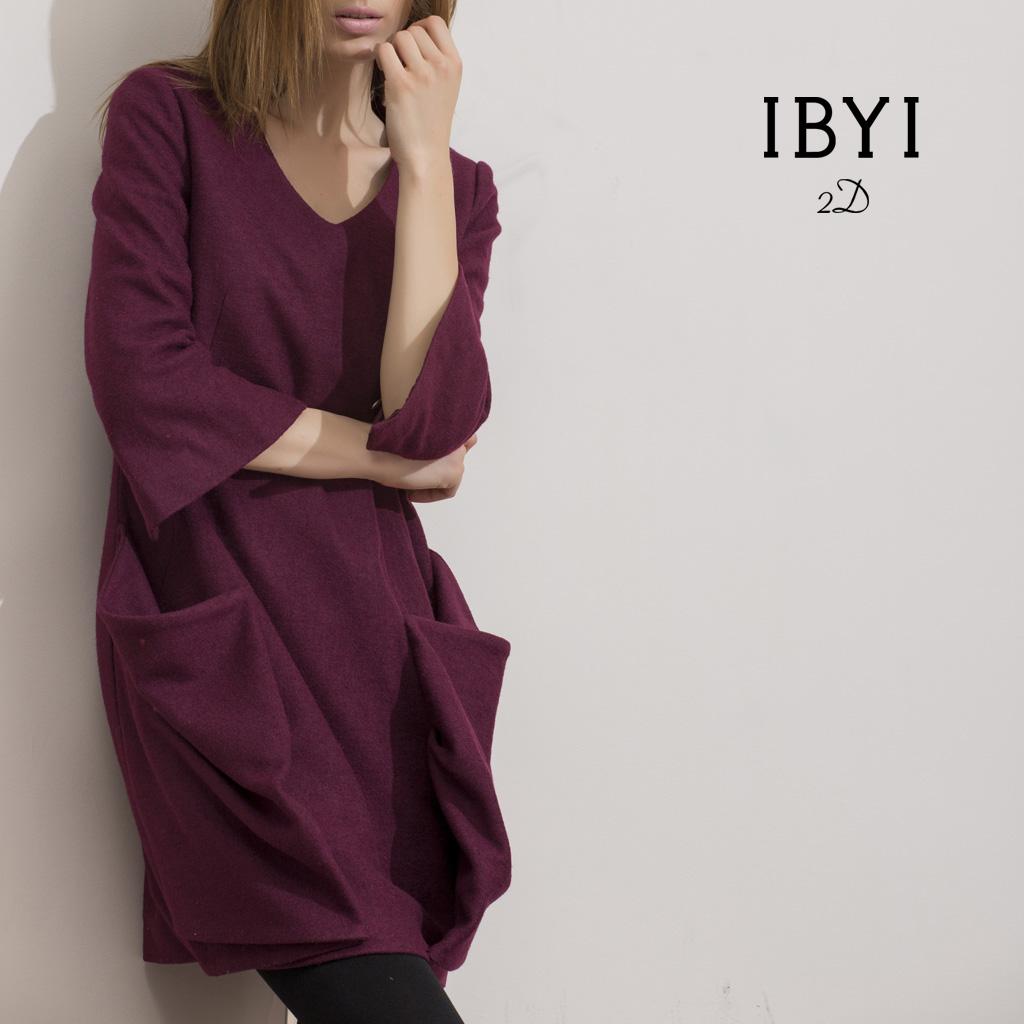 Женское платье Ibyi f35ly1032 Осень 2013 Шерсть