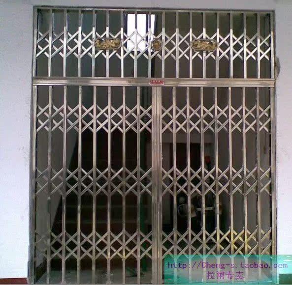 Le magasin de fer des portes coulissantes en acier inoxydable grille de tra - Porte coulissante en fer ...