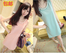 2013 Korean version of the new summer chiffon skirt large size women wild Slim bottoming vest skirt dress summer