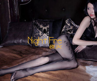 Night Fire Perspective desire Siamese mesh stockings French V-neck minded enjoy unlimited indulgence indulge in this