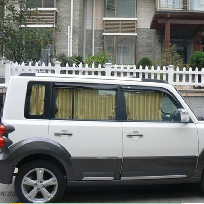 汽车窗帘长城酷熊 嘉誉 赛影赛弗专车用轨道遮阳帘百叶窗4侧后挡