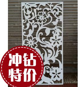 花合 密度板镂空浮木雕花 中欧式通花板电视背景玄关隔断墙定做03
