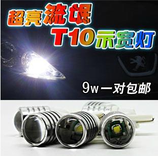 лампа Изгоев T10 ширина лампа 9W с объективом Hyper-яркое привело автомобиля света лампа синего фронт ширина лампа лицензии лампа для чтения