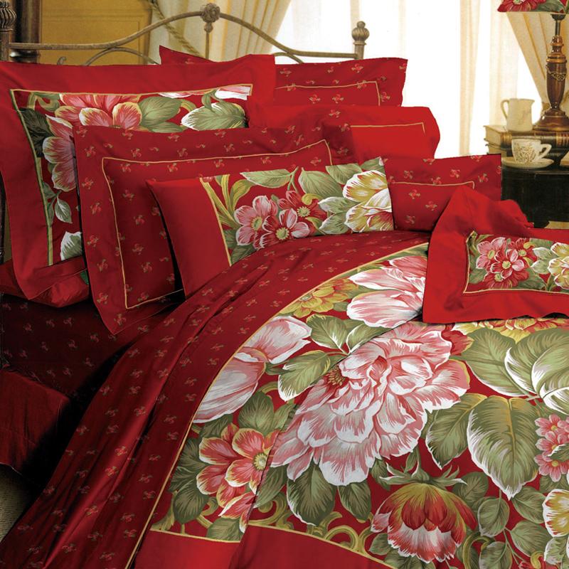 红富士家纺 幸福系列 高档婚庆床上用品四件套 套件