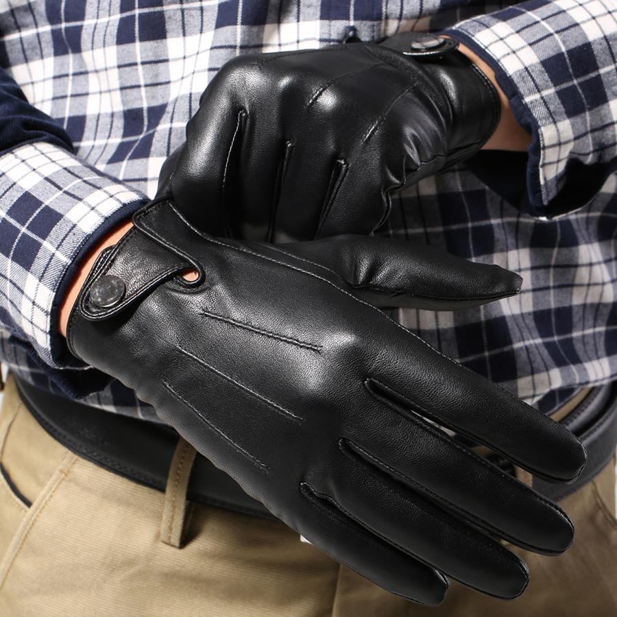 水森林 男士真皮手套 男式冬季保暖羊皮手套 运动收手腕扣驾驶