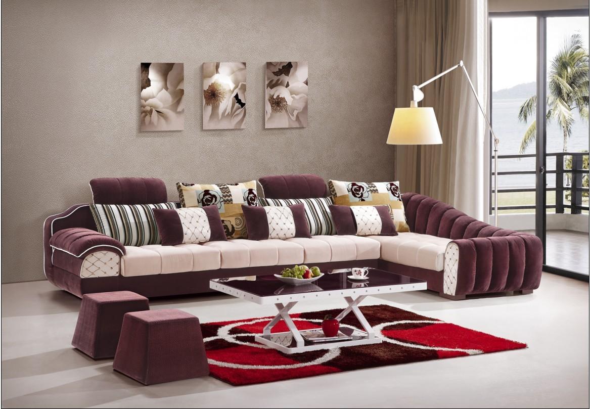 布艺沙发组合 创意家具 现代简约风格沙发 客厅转角沙发 住宅家具