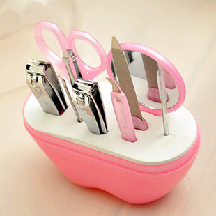 特价可爱苹果型美甲套装不锈钢指甲套装 美容美妆修甲工具 9件套