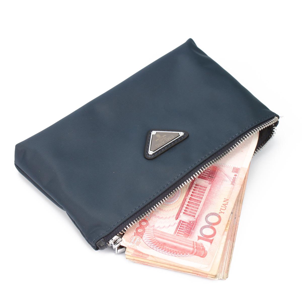 正品西牧狼男士手包休闲男包英伦布包小包长款零钱包手拿包大钞夹