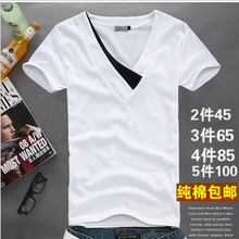 2 45! 2013 Men's Summer Slim-type men's clothes on the Korean version bottoming shirt Cool T-shirt