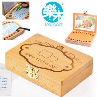 Baby Memorial children's toy wooden box wholesale lanugo boxes save of deciduous teeth of deciduous teeth
