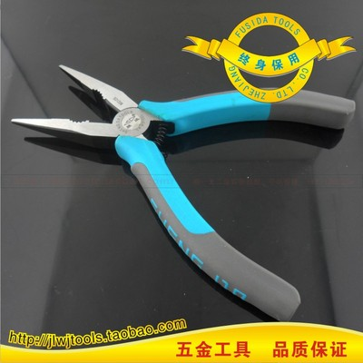 Lifetime warranty upscale black chrome vanadium steel precision polishing of household electrical Tsim Tsui pliers needle nose pliers tip pliers