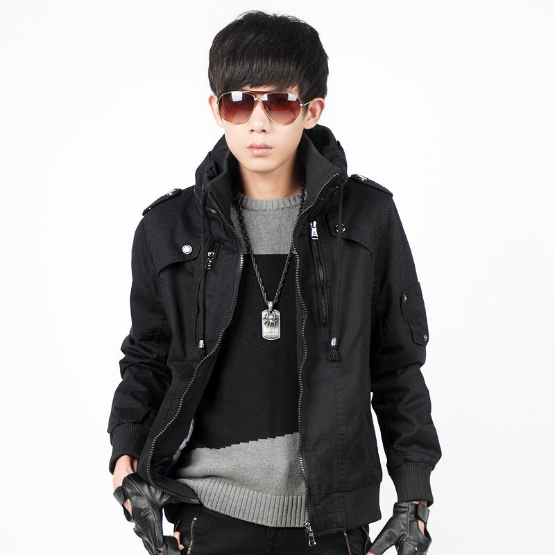 韩版男装潮流夹克 2013秋装时尚休闲立领修身森马版男外套 外衣服图片