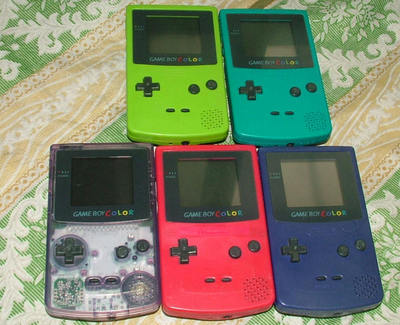 Original Nintendo GBC palm color GAMEBOY COLOR Color video game consoles 2