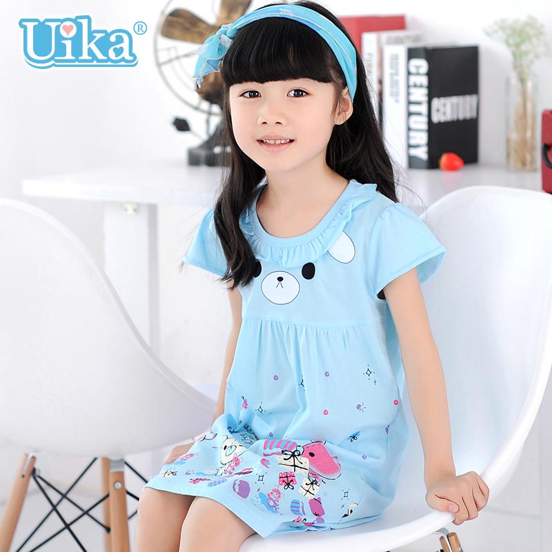 Нижнее белье UIKA 1803 Ночная рубашка Девушки Хлопок (95 и выше) Лето % 11-13 лет, 13 лет и старше, 3-5 лет, 5-7 лет, 7-9 лет, 9-11 лет