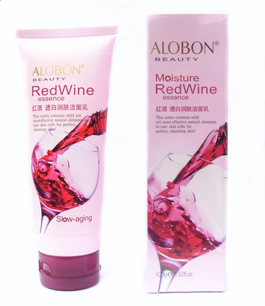 ALOBON/雅邦邦红酒透白润肤洁面乳100g 美白 滋润 洗面奶