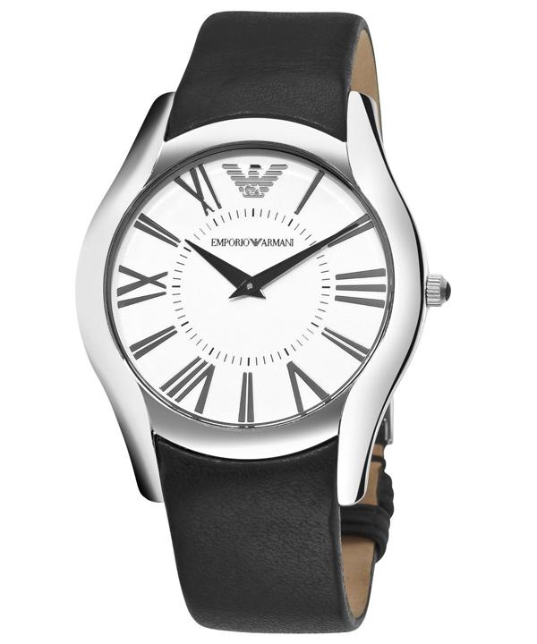 全国联保ARMANI阿玛尼时尚优雅皮带白色男表AR2020罗马时装表