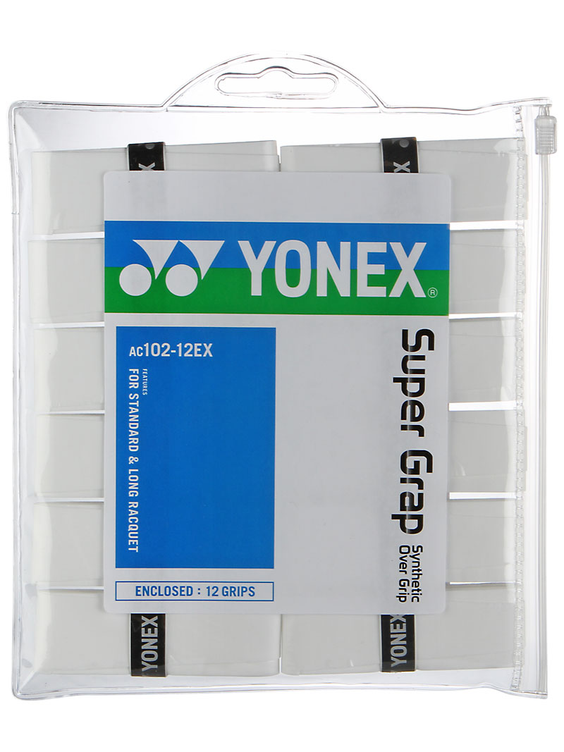 теннисные повязки Yonex Yonex grap 12 pack overgrip Super Grap 12 Pack Overgrip White